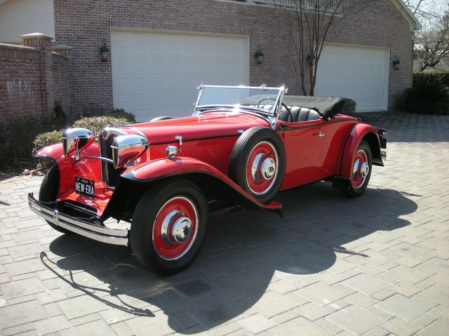 1929 Ruxton Red Roadster - Owner Name Withheld
