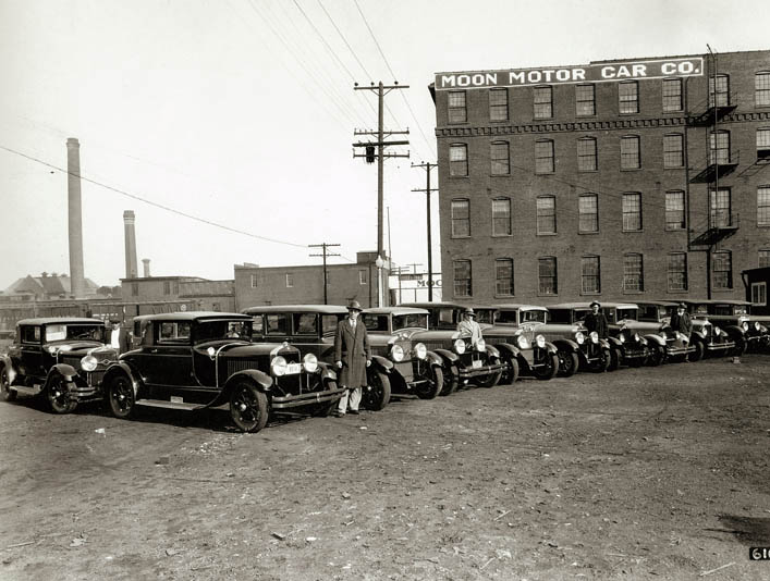 "Moon Motor Car Company, circa 1927 - ""Courtesy of the Missouri History Museum"""